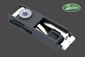 双卡锌壳锁件